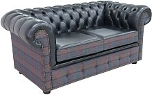 Chesterfield 2 Seater Lewis Check Plum & Antique