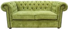 Chesterfield 2 Seater Settee Azzuro Olive Green