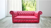 Chesterfield 2 Seater Settee Buttoned Seat Old