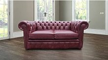 Chesterfield 2 Seater Settee Old English Burgandy
