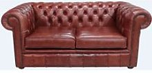 Chesterfield 2 Seater Settee Old English Chestnut