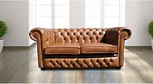 Chesterfield 2 Seater Settee Old English Tan