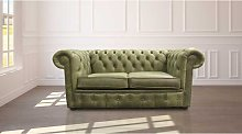 Chesterfield 2 Seater Settee Selvaggio Sage Green
