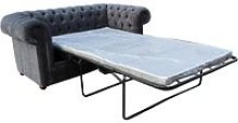 Chesterfield 2 Seater Settee Sofa Bed Flamenco