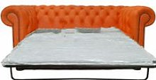 Chesterfield 2 Seater Settee Sofa Bed Orange