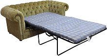 Chesterfield 2 Seater Settee Sofa Bed Velluto Gold