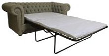 Chesterfield 2 Seater Settee Sofa Bed Verity Plain