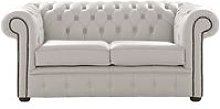 Chesterfield 2 Seater Shelly Almond Leather Sofa