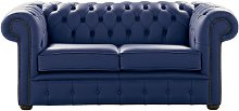 Chesterfield 2 Seater Shelly Bilberry Blue Leather