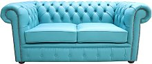 Chesterfield 2 Seater Shelly Dark Teal Blue
