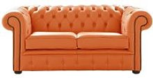 Chesterfield 2 Seater Shelly Firestone Leather