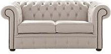Chesterfield 2 Seater Shelly Rice Milk Leather