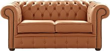 Chesterfield 2 Seater Shelly Saddle Leather Sofa