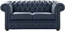 Chesterfield 2 Seater Shelly Suffolk Blue Leather