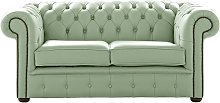 Chesterfield 2 Seater Shelly Thyme Green Leather
