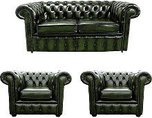 Chesterfield 2 Seater Sofa + 2 x Club Chairs