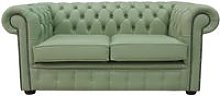 Chesterfield 2 Seater Sofa Settee Shelly Pea Green