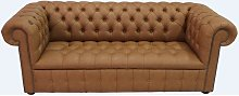 Chesterfield 3 Seater Buttoned Seat Infinity Camel