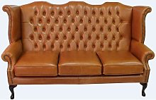 Chesterfield 3 Seater Queen Anne High Back Wing