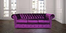Chesterfield 3 Seater Settee Boutique Purple