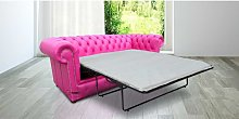 Chesterfield 3 Seater Settee Fuschsia Pink Leather