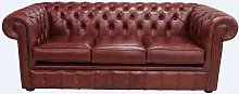 Chesterfield 3 Seater Settee Old English Chestnut