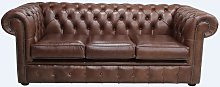 Chesterfield 3 Seater Settee Old English Hazel