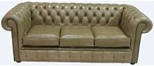 Chesterfield 3 Seater Settee Old English Sand