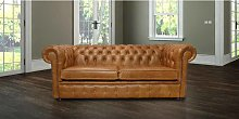 Chesterfield 3 Seater Settee Old English Tan