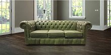 Chesterfield 3 Seater Settee Selvaggio Sage Green