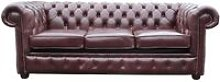 Chesterfield 3 Seater Settee Sofa Bed Old English