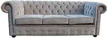 Chesterfield 3 Seater Settee Sofa Bed Velluto