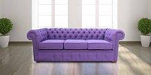 Chesterfield 3 Seater Settee Verity Plain Purple