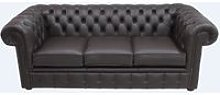 Chesterfield 3 Seater Sofa Settee Shelly Dark