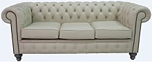 Chesterfield 3 Seater Sofa Settee Shelly Ivory