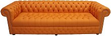 Chesterfield 4 Seater Settee Buttoned Seat Shelly
