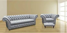 Chesterfield Balmoral 3 Seater + Armchair +