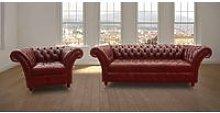 Chesterfield Balmoral 3 Seater + Armchair Sofa