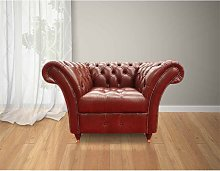 Chesterfield Balmoral Armchair Buttoned Seat Old