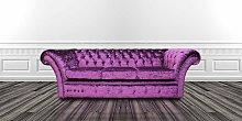Chesterfield Balmoral Purple 3 Seater Sofa Settee