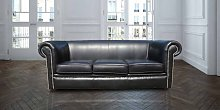 Chesterfield Berkeley 1930 3 Seater Settee Old