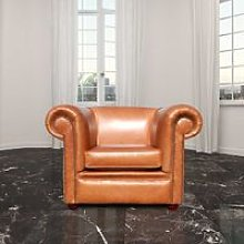 Chesterfield Berkeley Low Back Club ArmChair Old