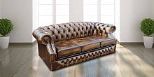 Chesterfield Buckingham 3 Seater Antique Gold