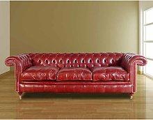 Chesterfield Burlington 3 Seater Leather Sofa UK