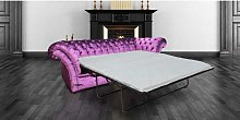 Chesterfield Calvert Purple 3 Seater SofaBed