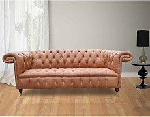 Chesterfield Chatsworth 3 Seater Leather Sofa Old