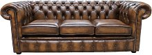 Chesterfield Classic Tufted Buttoned 3 Seater