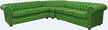 Chesterfield Corner Sofa Unit 7 Seater Apple Green