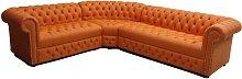Chesterfield Corner Sofa Unit Buttoned Seat 3