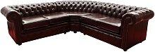 Chesterfield Corner Sofa Unit Cushioned 2 Seater +